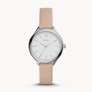 🌼 NWT Fossil pink leather watch